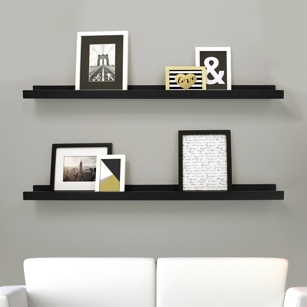 floating shelves lowe thin white edge ture frame ledge set closet shelf cleats brown ikea bookshelf wall sticker steel brackets for wood garage organization narrow shelving unit