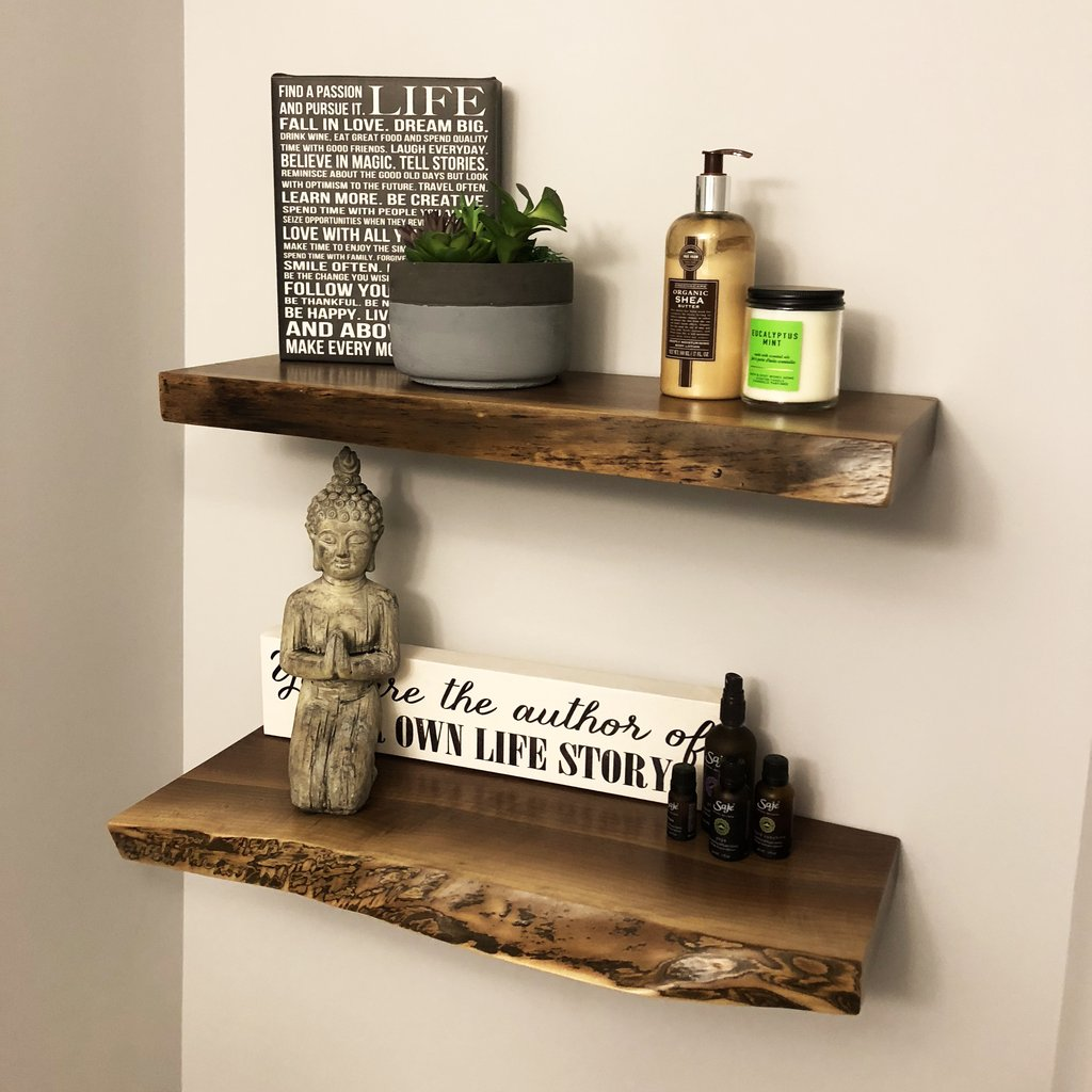 floating shelves lush woodcraft live edge walnut copy edmonton next kitchen stand alone bath towel storage cabinet drawing room wall racks garage shelving cabinets mini corner