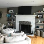 floating shelves next fire place paint color anonymous sherwin beside fireplace williams desk with walls timber melbourne threshold corner shelf canadian tire weekly flyer closet 150x150