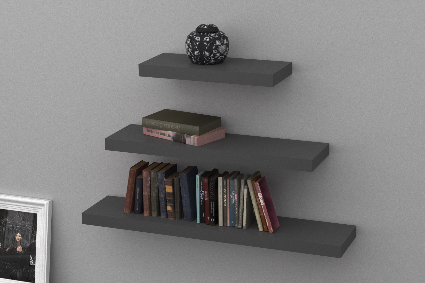 floating shelves stone grey triple mastershelf uncategorized low corner bookshelf hall hanging storage narrow shoe cabinet shallow wall unit audio shelf pottery barn brass fold