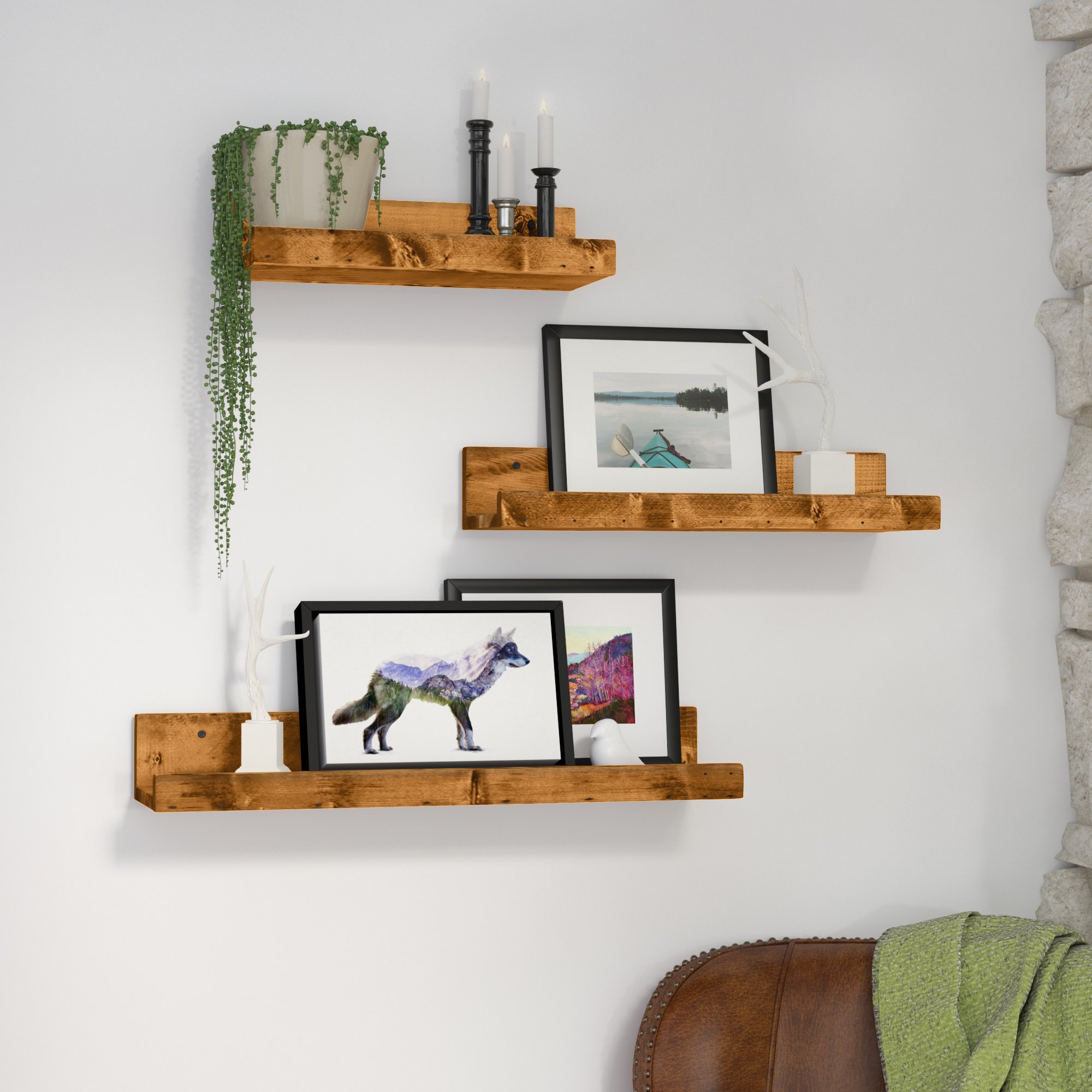 floating shelves storiestrending staggered kitchen under desk storage solid wood flooring underlay inch wall mounted coat rack free fireplace diy plans plum pipe shelf brackets