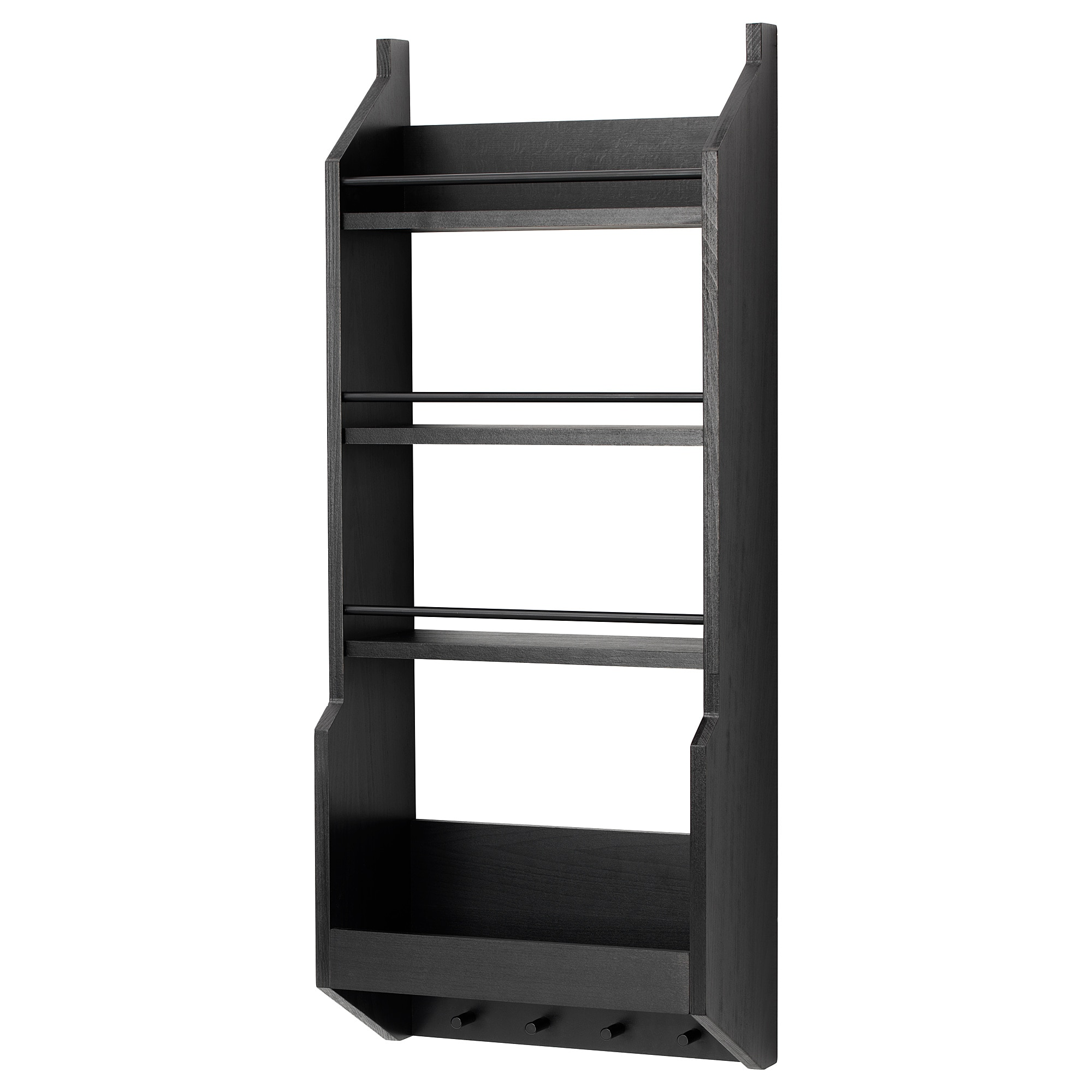 floating shelves wall shelf brackets ikea vadholma black gloss standard height kitchen table with storage entryway shelving unit vegetable rack open design ideas space between