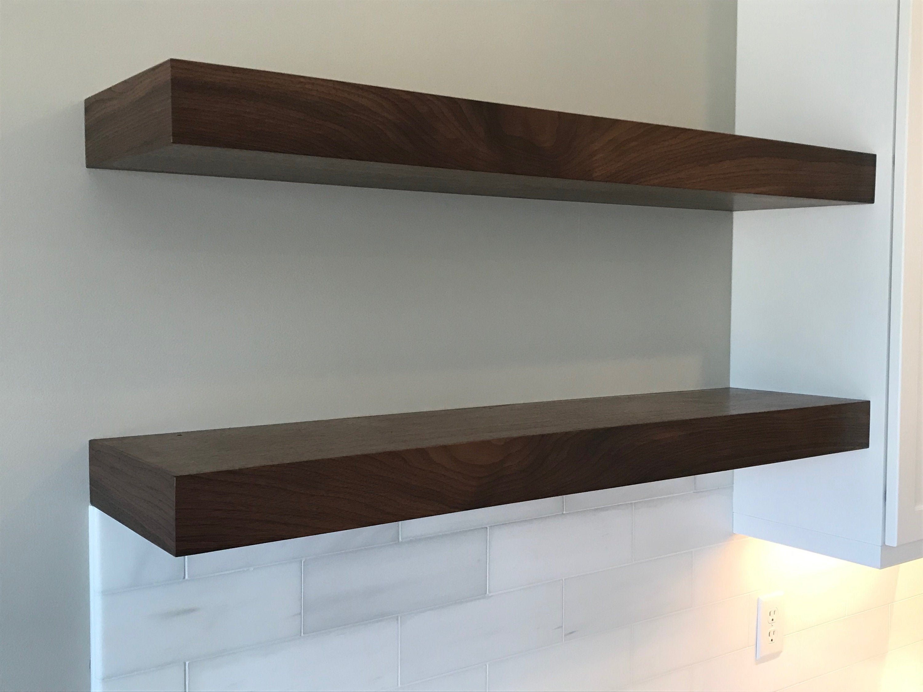floating shelves walnut white oak mahogany etsy fullxfull box tall freestanding kitchen storage baskets wall shelf iron open shelving bathroom french homework desk narrow ledge
