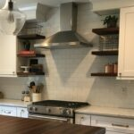 floating shelves walnut wood works tung oil and beeswax using kitchen custom solid hardwood wall hooks without nails mini mounted desk small corner shelf removable clips white sky 150x150