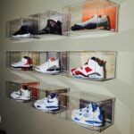 floating wall box large basement shoe displaying shelves for shoes mount sneakerglass premium sneaker display solution the your air yeezy collection kitchen island storage ideas 150x150