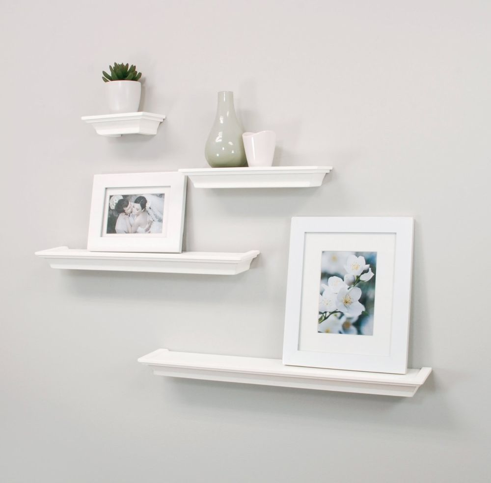 floating wall shelves set mounted ledge home decor storage shelf display white nexxtco contemporary argos bathroom corner rack best coat inch crown molding invisible hanging