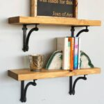 floating wood shelf williamsburg iron brackets shelves delirious design kitchen island countertop drywall anchors for espresso solid coat rack and wall storage hanging media ikea 150x150