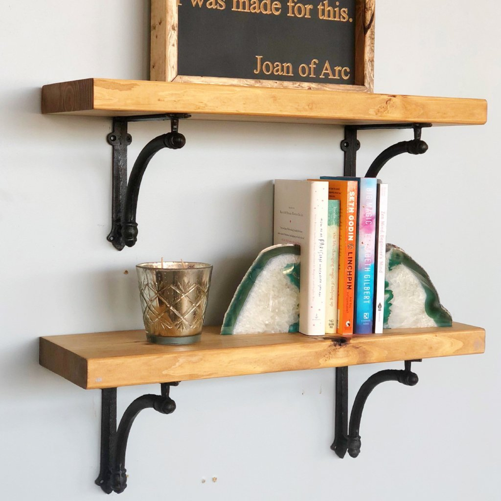 floating wood shelf williamsburg iron brackets shelves delirious design kitchen island countertop drywall anchors for espresso solid coat rack and wall storage hanging media ikea