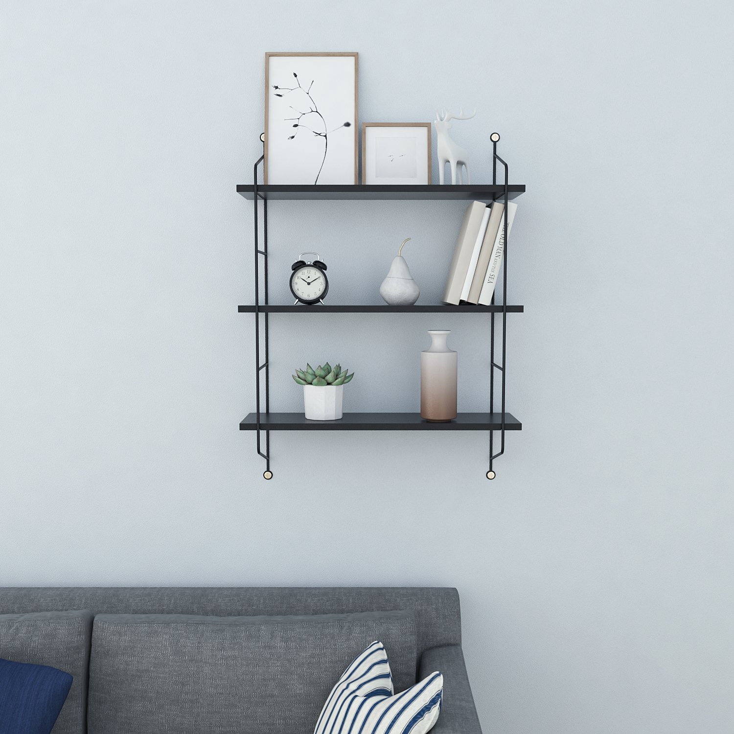 flyerstoy wall mounted floating shelves tiers display and ture frames ledge wood storage for modern home decorative black rustic simple coat tree lino underlay shelf corner