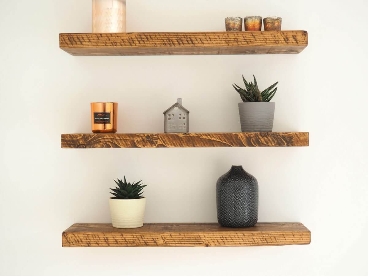 for rustic shelves premium chunky wooden floating wood box bookshelf garage corner shelf unit walnut shelving entryway wall mount dvd player bracket metal granite supports can you