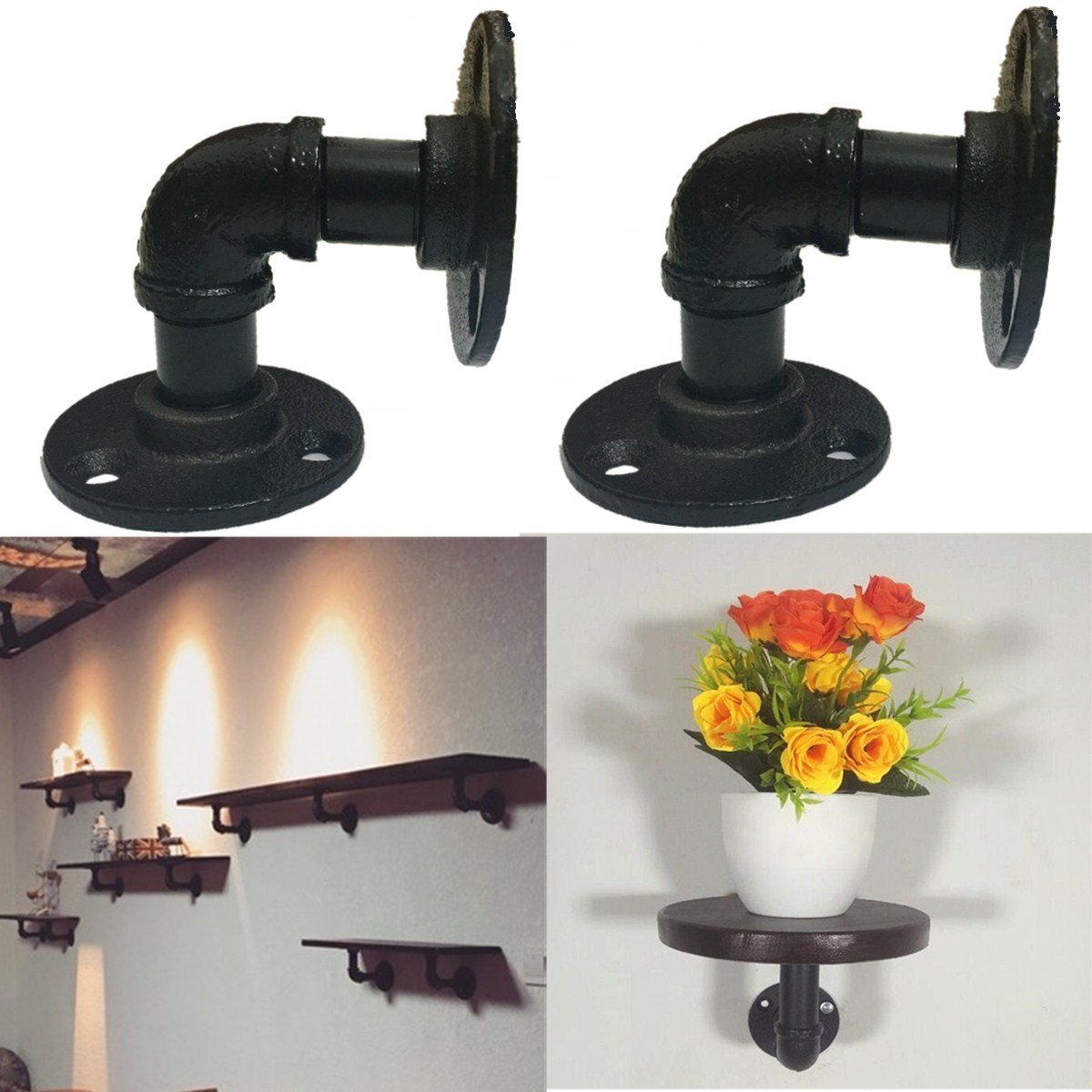 free floating shelf bracket find brackets get quotations hapyly vintage industrial iron pipe hanging wall hardware perfect for custom shelves prepac entryway holman entertaining