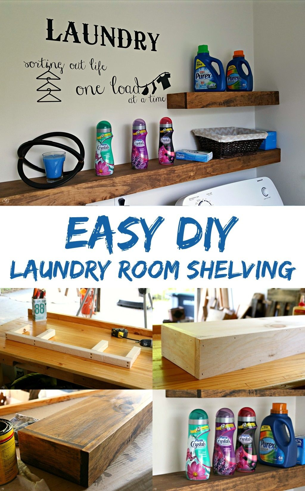 freshen your laundry room with this easy diy floating shelf shelves project learn how build for storage drawers kitchen open design glass window ikea malm tall slim shoe bar and