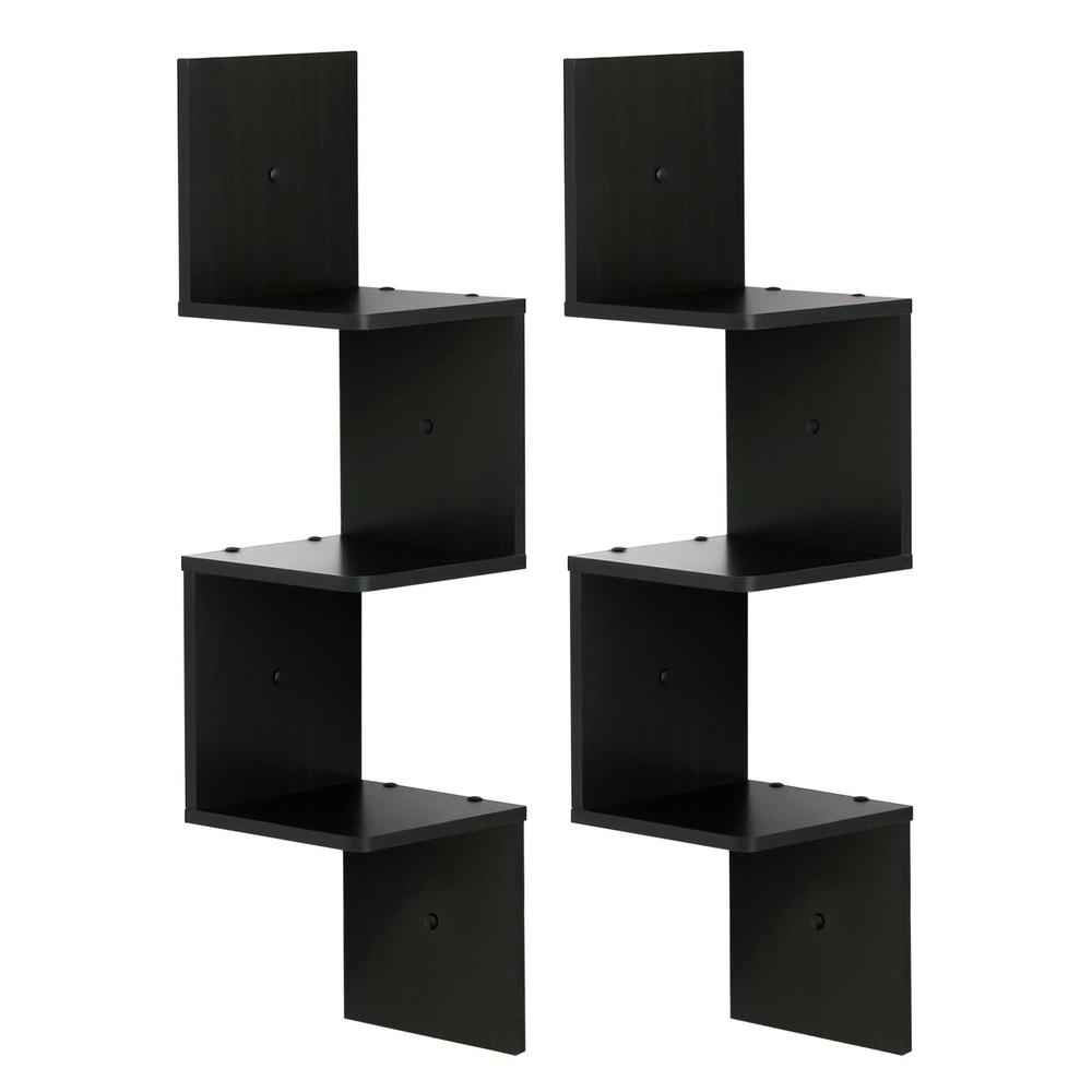 furinno espresso shelf square floating corner pack decorative shelving accessories black custom design storage hook coat rail organizer easy shoe rack ideas wall mounted units