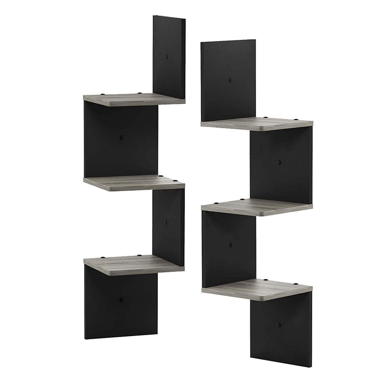 furinno tier set mount floating lyrqpl grey shelf with drawer corner square wall french oak black kitchen dining tall utility ikea mudroom ideas storage rustic fireplace audio