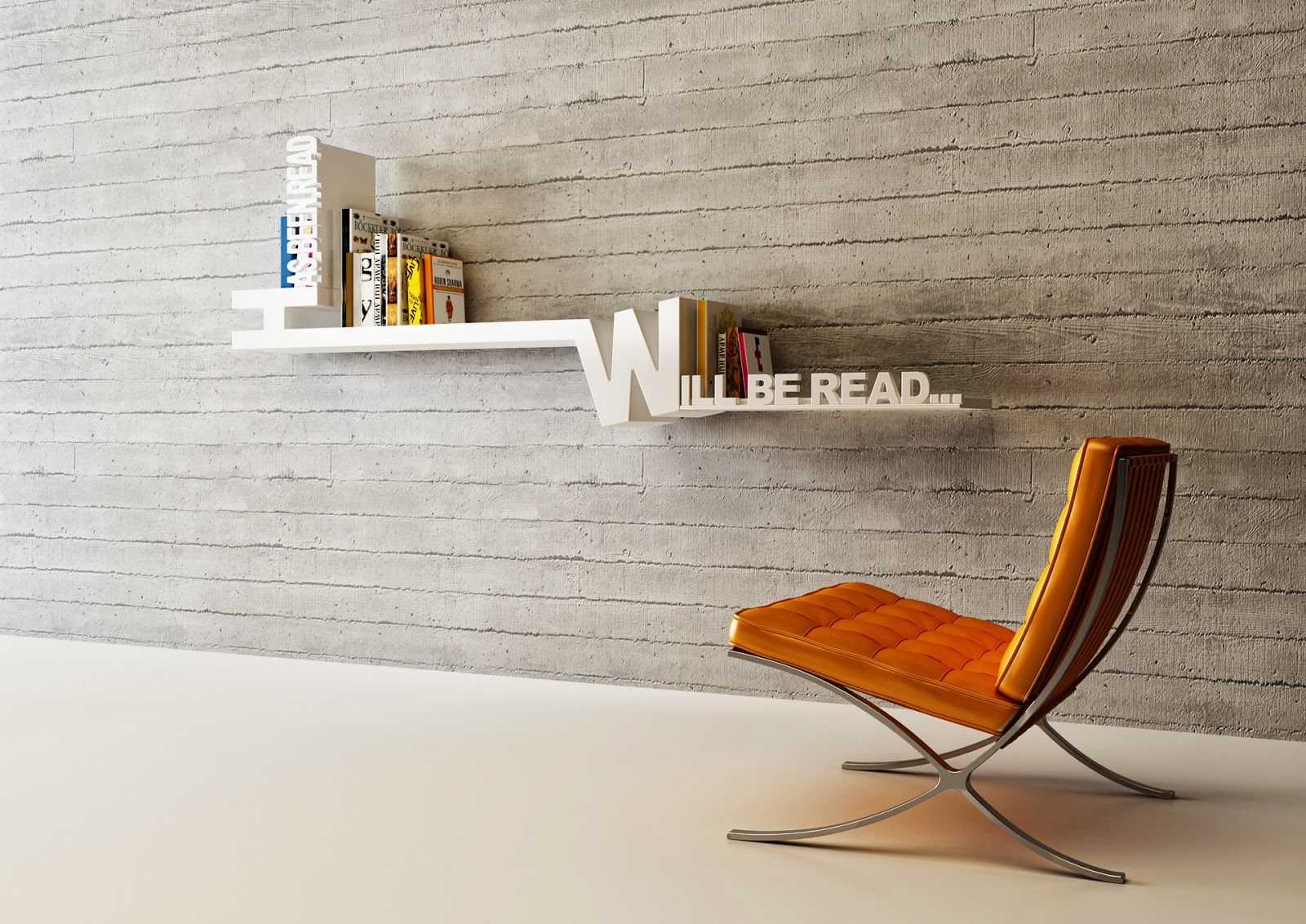furniture interesting bookshelf target for inspiring interior awesome floating with versetta stone and orange barcelona chair bookcase tall bookshelves shelves shelf built kitchen