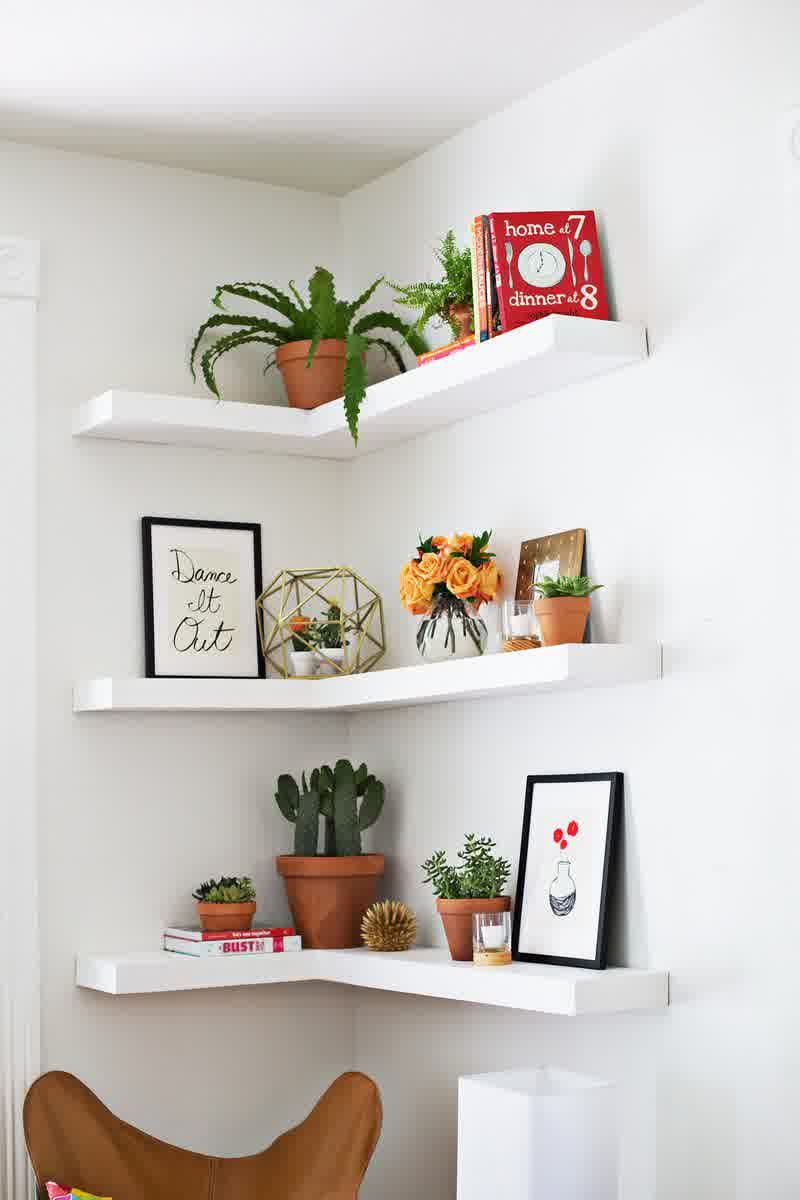 furniture modern mini living room design with designer floating wall shelves corner shelf for bookshelf funiture and indoor plants ideas media storage console canadian tire