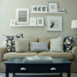gallery wall above the sofa like floating shelves behind easy way switch out seasonal framed items without having hang them industrial mounted coat rack shelf end supports open 150x150