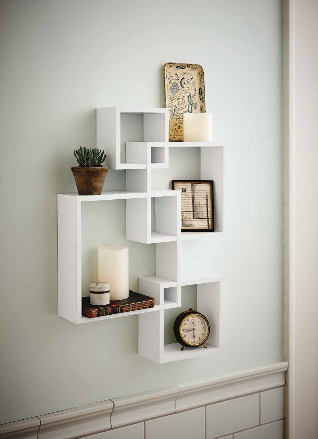 generic intersecting squares wall shelf decorative floating shelves cube storage display overlapping room essentials bookcase instructions wooden corner diy vanity secret cubby