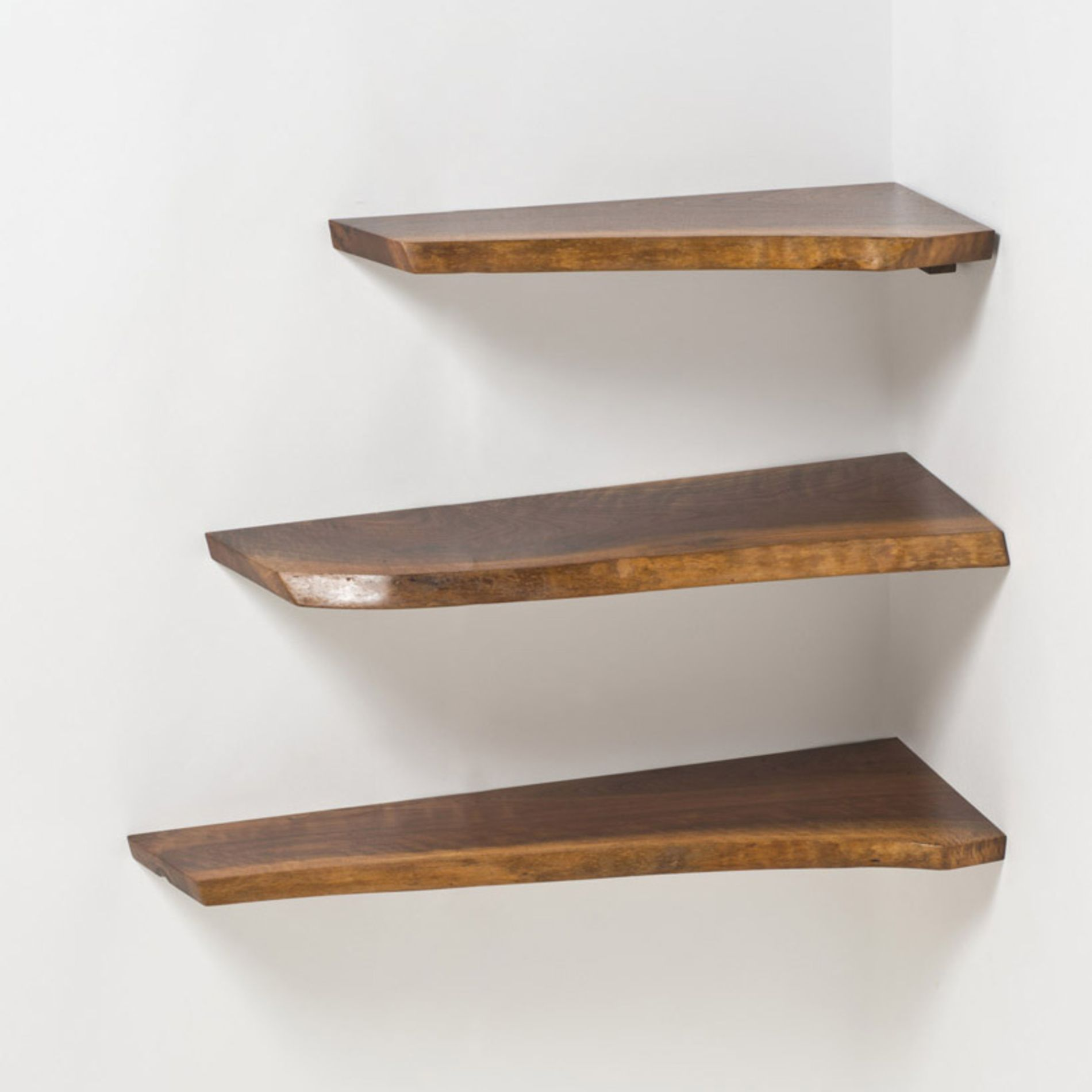 george nakashima walnut corner shelves mcm design canvas driftwood floating shelf entryway wall storage mini hall bench shaped ikea bathroom ceiling lights best ergonomic office