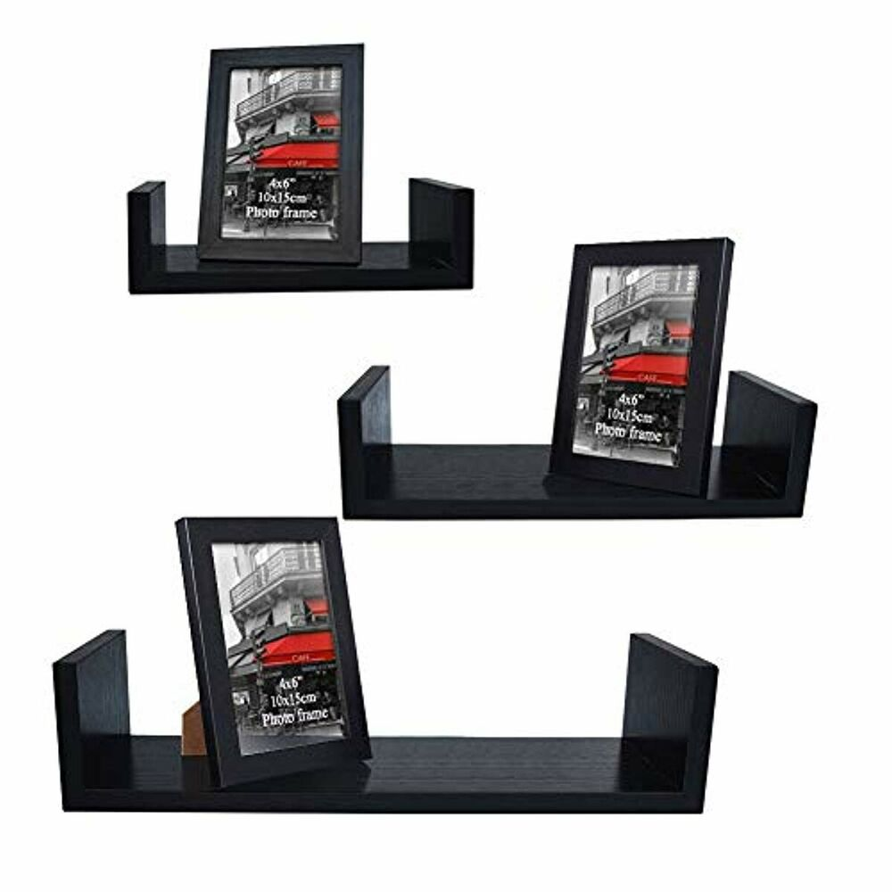 giftgarden ture frames included shaped floating shelves wall and details about shelf set wood storage kits ikea double desk installing vinyl flooring over dry food cabinets best