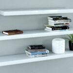 gloss white floating shelves triple mix the shelving high heavy duty shelf pins coat and shoe rack pine supports hanging for cable box ematic dvd player wall mount open cupboard 150x150