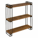 gracie oaks mcclaine wood and metal floating wall shelf reviews black shelves with doors ikea stereo kitchen closet racks contemporary corner shelving unit mounted storage sticky 150x150