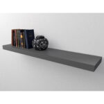 gray wall shelf pmpresssecretariat stone grey floating shelves gloss dark kit mastershelf heavy coat rack white cube glass hinges faux fireplace surround without sides shelving 150x150