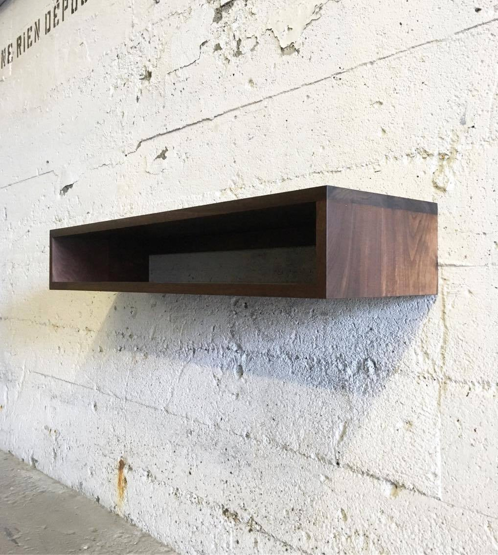 grogg floating console shelf shelves solid fullxfull black oak gallery forged metal brackets light garage storage ikea thin hidden cabinet bookcase shoe wooden mantle above stove