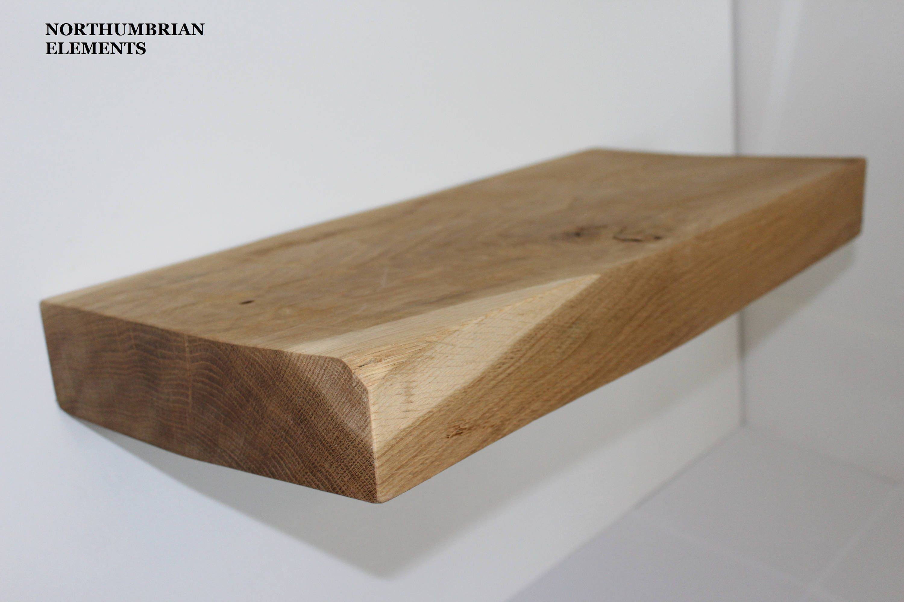 handcrafted rustic reclaimed solid oak floating shelf shelves brackets inch northumbrianelements etsy diy ikea peg coat rack shoe wall mounted desk fold build bra square glass