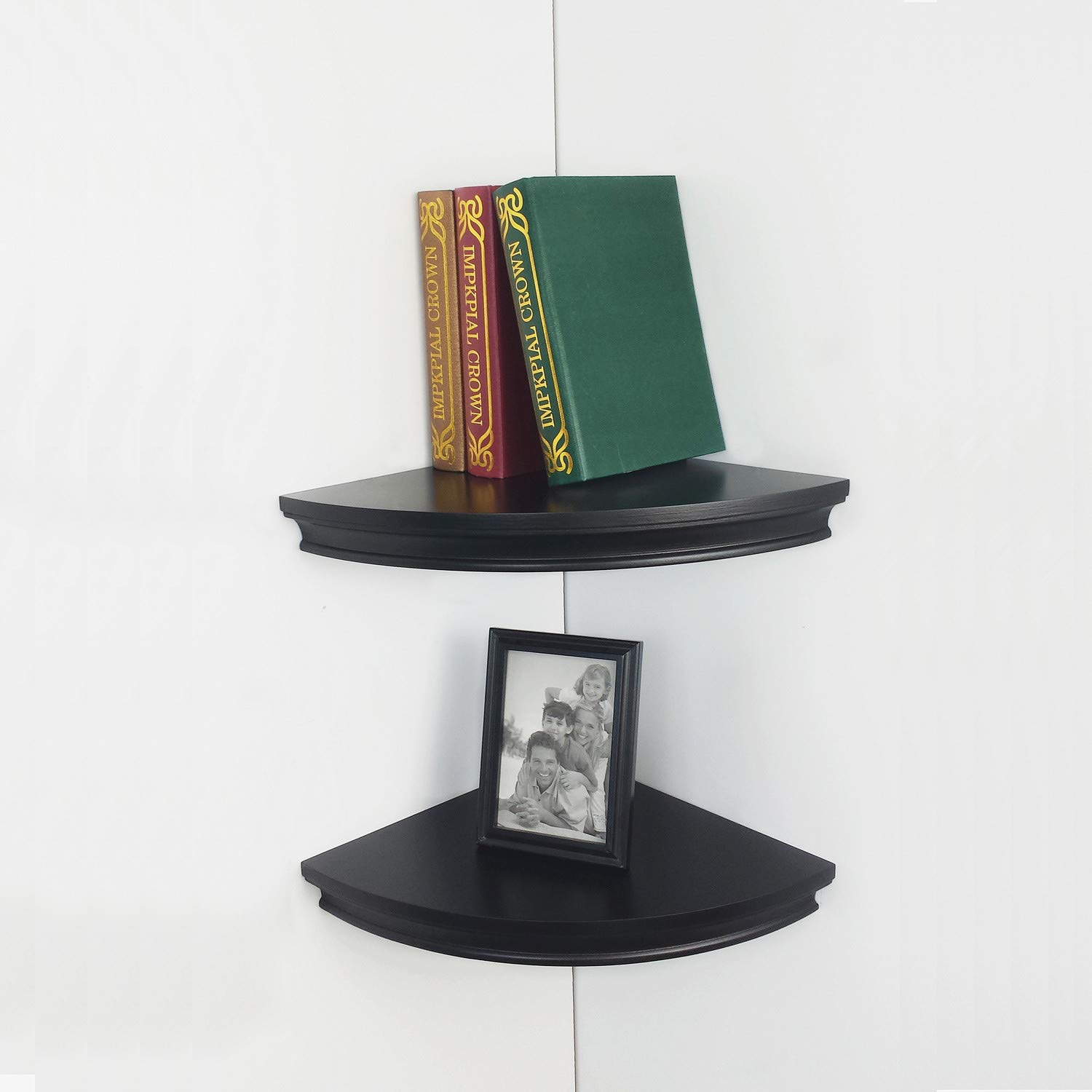 hao set classic radial corner wall shelf contoured radius floating shelving mdf shelves approx black home kitchen marble oak effect lamp table laying vinyl space saving computer
