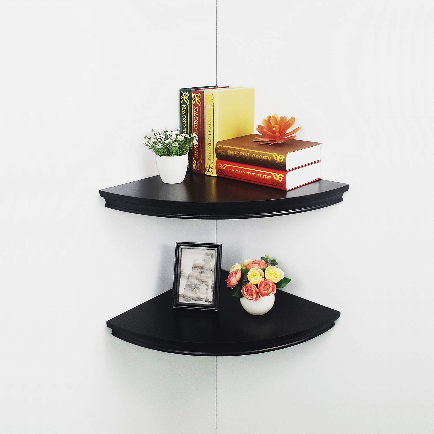 hao set large classic radial corner wall shelves black wood floating mdf shelving approx home kitchen pottery barn mount bookshelf sturdy white mantel mitre ballarat small desk