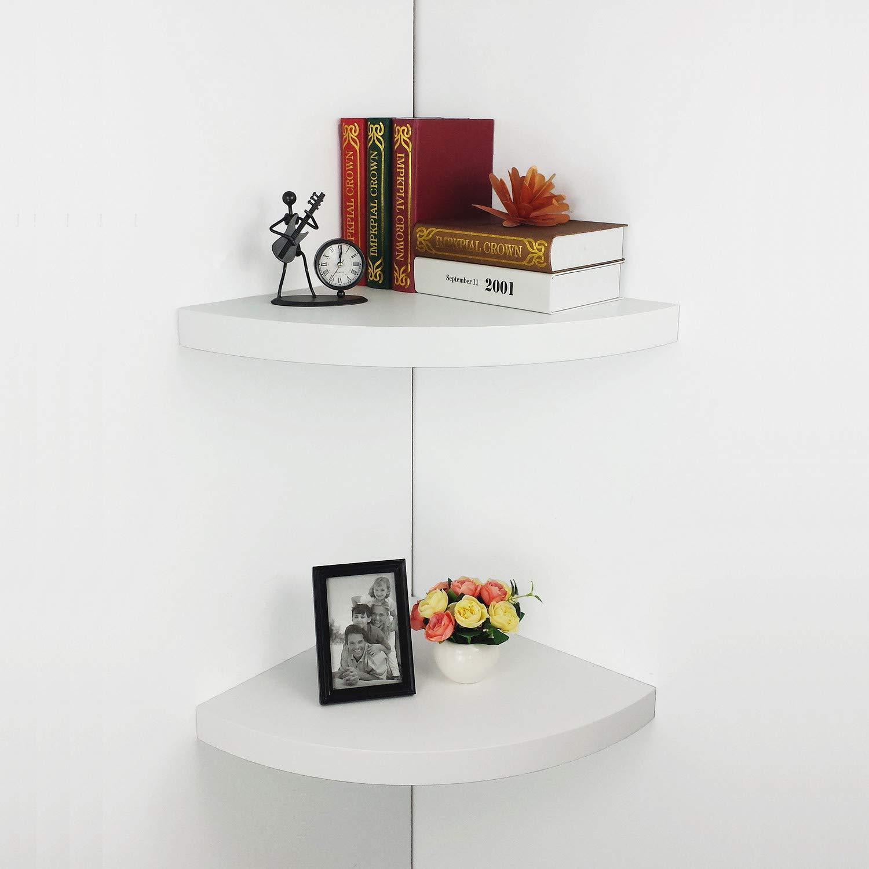 hao set large modern radial corner wall shelves floating shelf with drawer mdf shelving approx white home kitchen ikea hacks besta folding coat rack ematic full motion universal