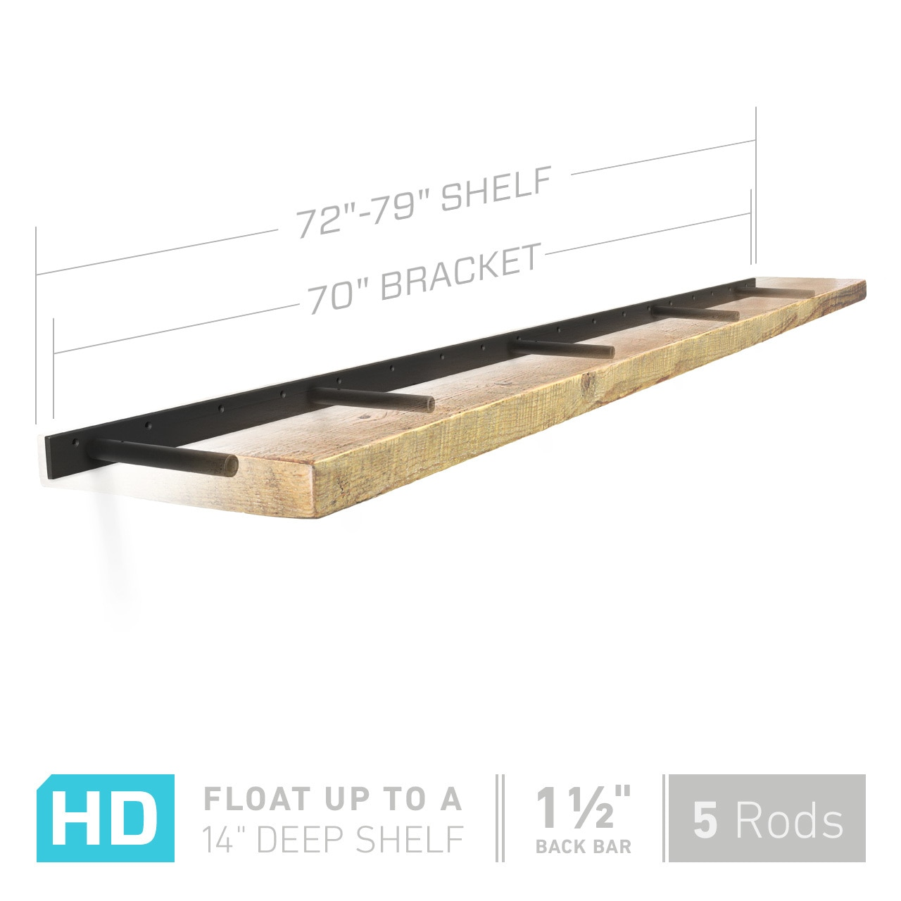 heavy duty floating shelf bracket fits inch shelves dimensions mounting options manufactured brackets that hold real weight use these hidden for your custom retail shelving door