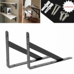 heavy duty shelf brackets floating shelves tripod corner triangle bracket brace support wall hanging black inch ovov home rustic wood shelving ideas round metal bookshelf holman 150x150