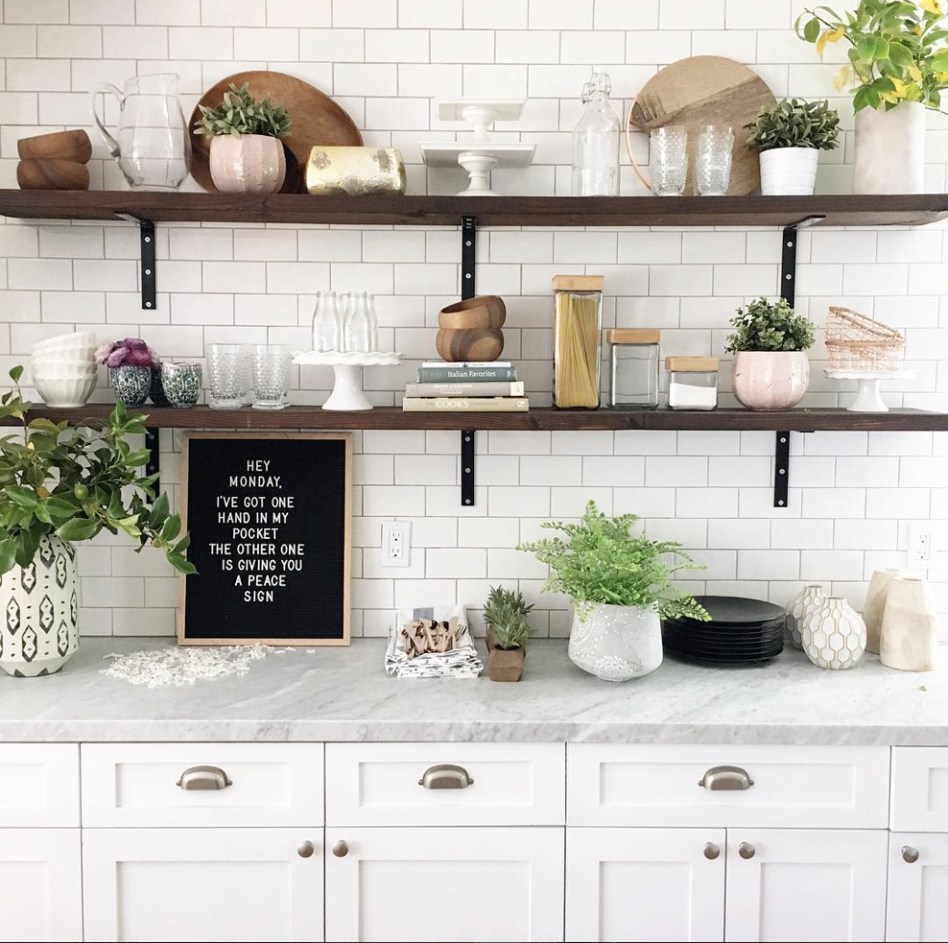 height floating kitchen shelves bigger than the three screen shot between cabinets open shelving design every davis moments everydavismoments worktop shelf corner entertainment