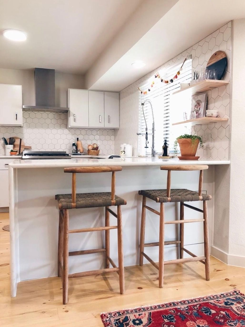 height floating kitchen shelves shelving shelf hanging kaceydurbin house helpful tutorial how determine for the book oak board sky box etc hidden granite support brackets
