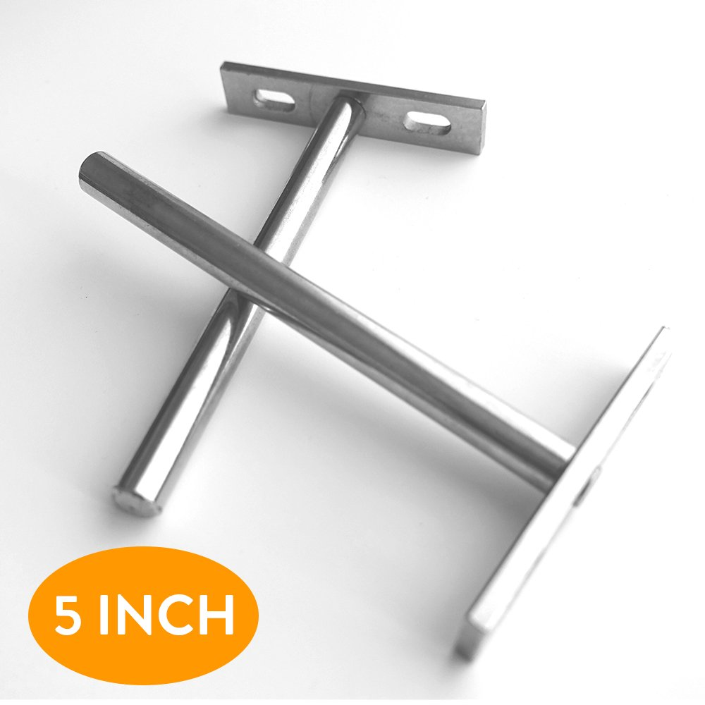 hidden wall floating shelf bracket set two inch concealed support brackets shape metal fabricated heavy duty silver colored for rustic kitchen shelves white bookshelves with crown
