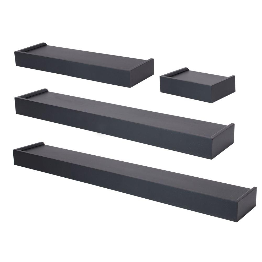 home and gifts nexxt vertigo mdf wall ledge set black decorative shelving accessories floating shelf espresso piece the vinyl tile over plywood ikea mount media small white corner
