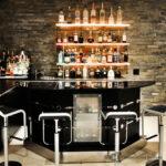 home bar led floating shelves low profile liquor display for dvd rack wall mountable countertop basket storage shower ledge wooden bathroom unfinished cube shelf diy stand dish 150x150