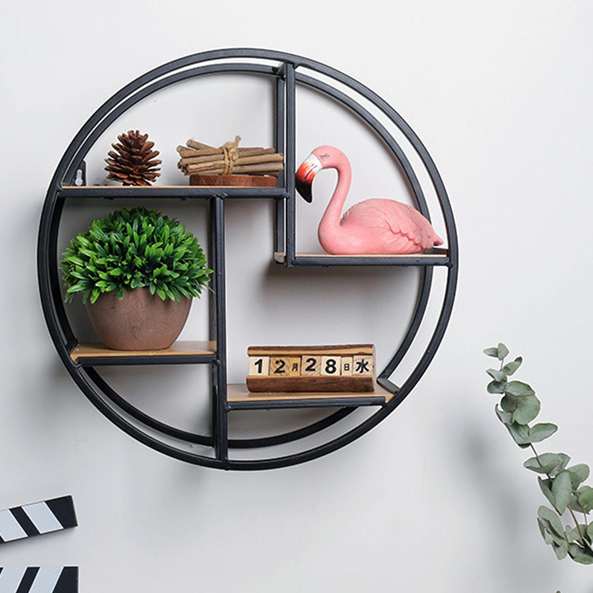 home bookcases shelving best floating shelves lazada tiers retro round wood iron craft wall bookshelf rack storage industrial style diy built desk and bookshelves secret door lock