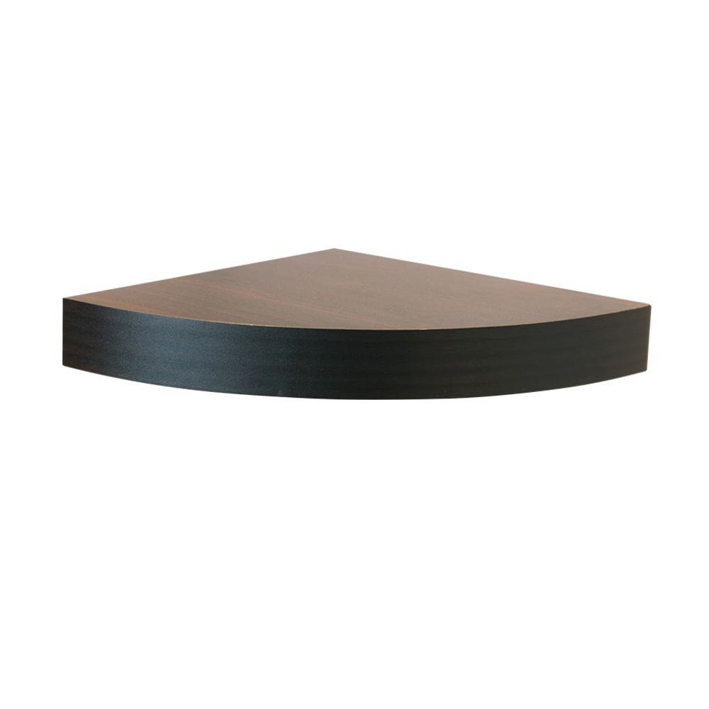 home decorators collection espresso mdf floating corner shelf brown decorative shelving accessories inch tures kitchens with open bunnings coat rack light lack mounting black pegs