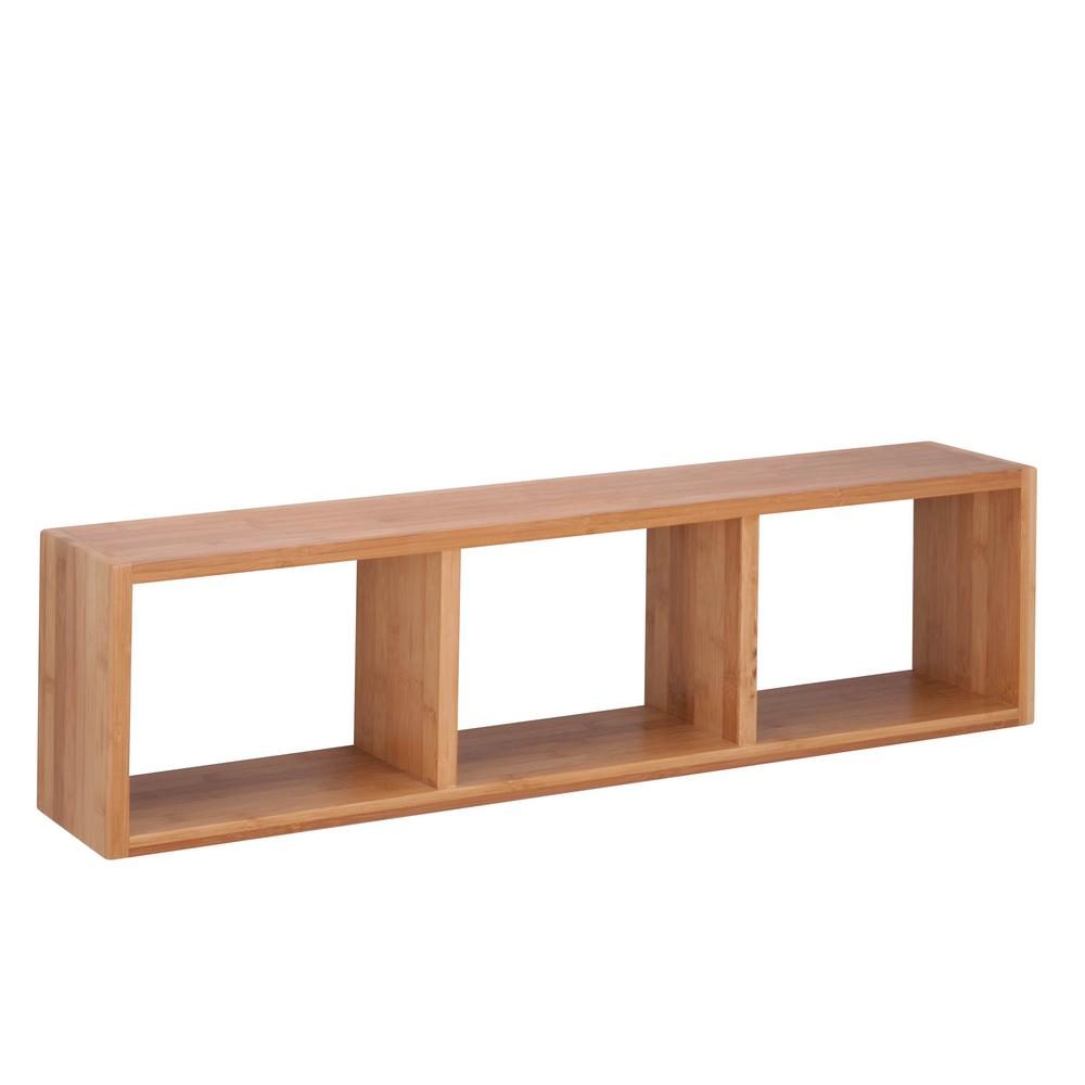 honey can triple cube wall shelf bamboo decorative shelving accessories shf floating shelves storage inch deep chesterfield coffee table canadian tire plastic drawers coat rack