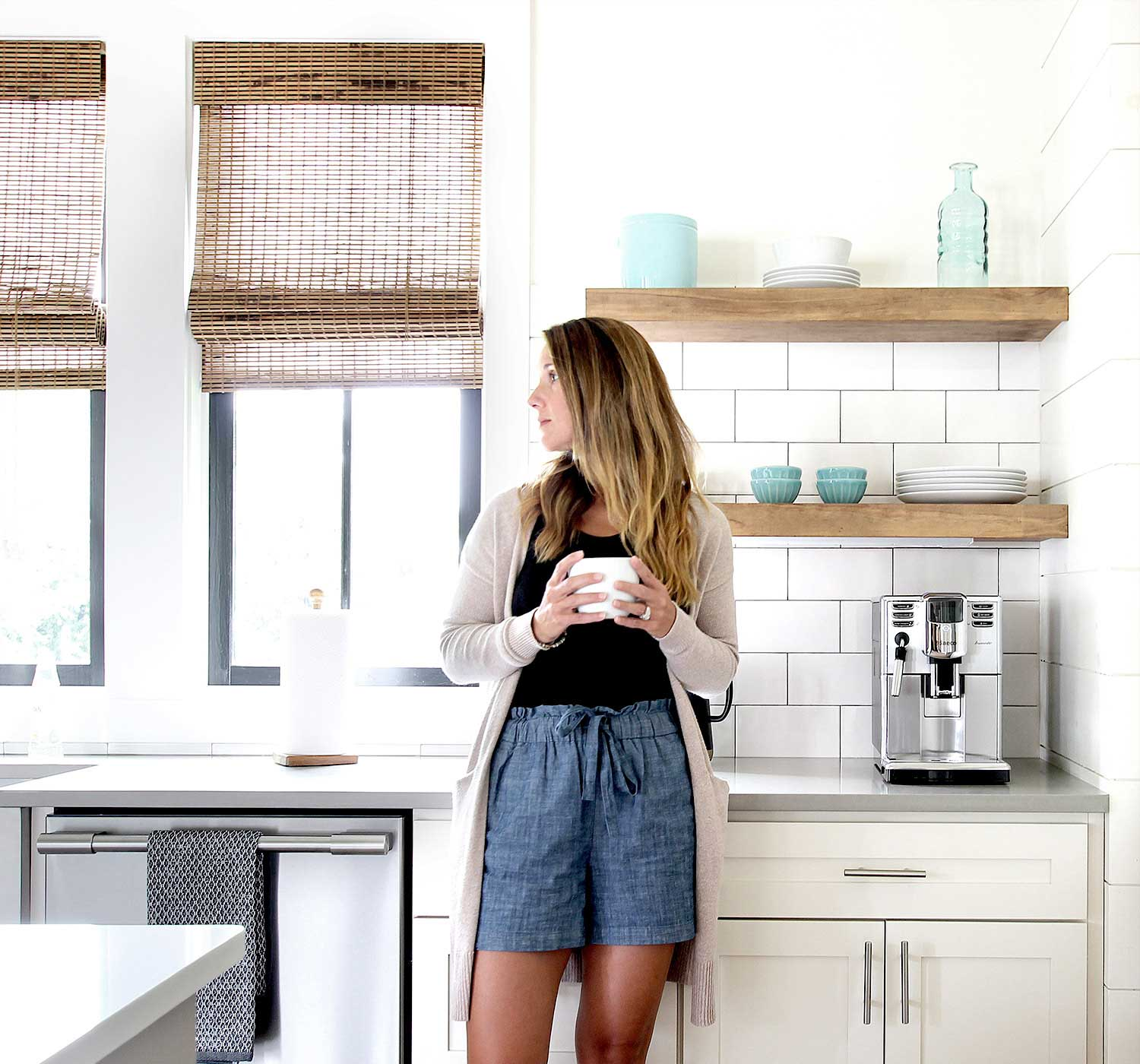 how build and install floating shelves for the kitchen plank brooke coffee web using when built our house plan was two each side sink but time got closer move there were too