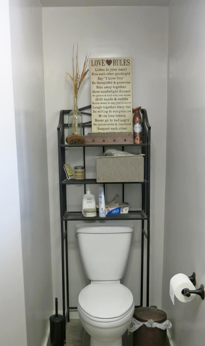how build bathroom floating shelves for extra storage diy faux shiplap wall small toilet with dark wire shelving unit over the are full hall clothes rack wood art single cube