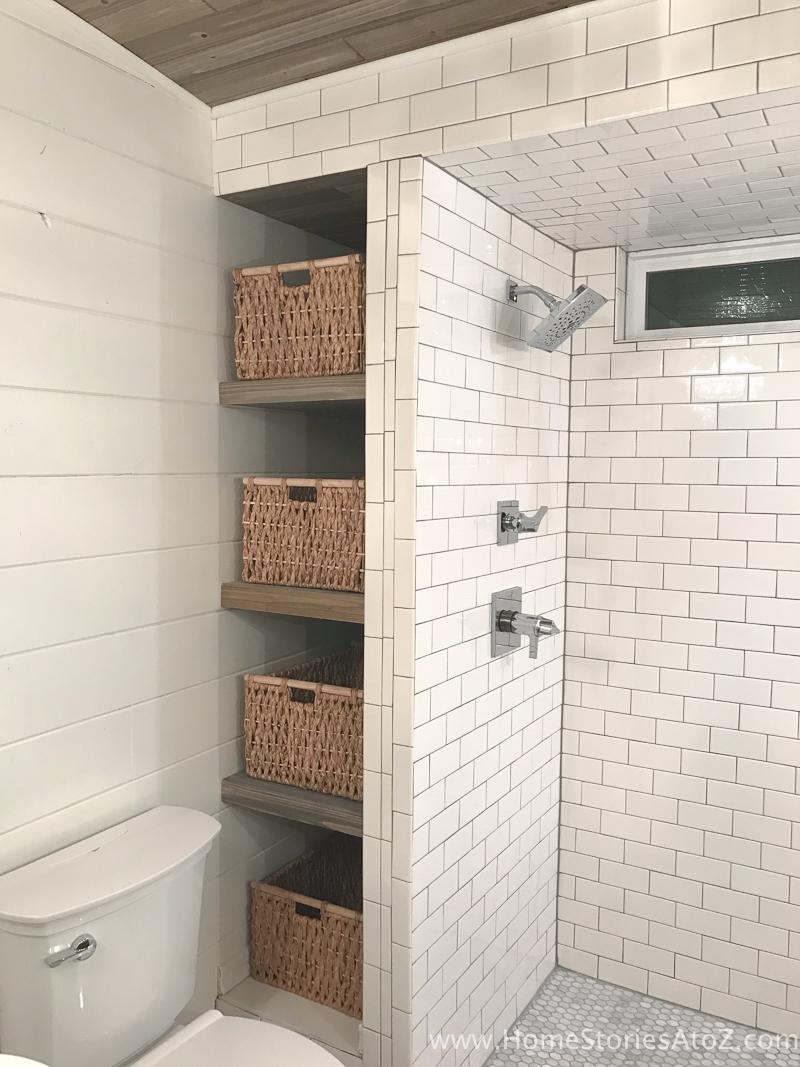 how build bathroom shelves next shower floating with baskets storage step and enjoy shelf corner hutch ikea cabinet hanging cleats white brackets media kitchen options diy shoe