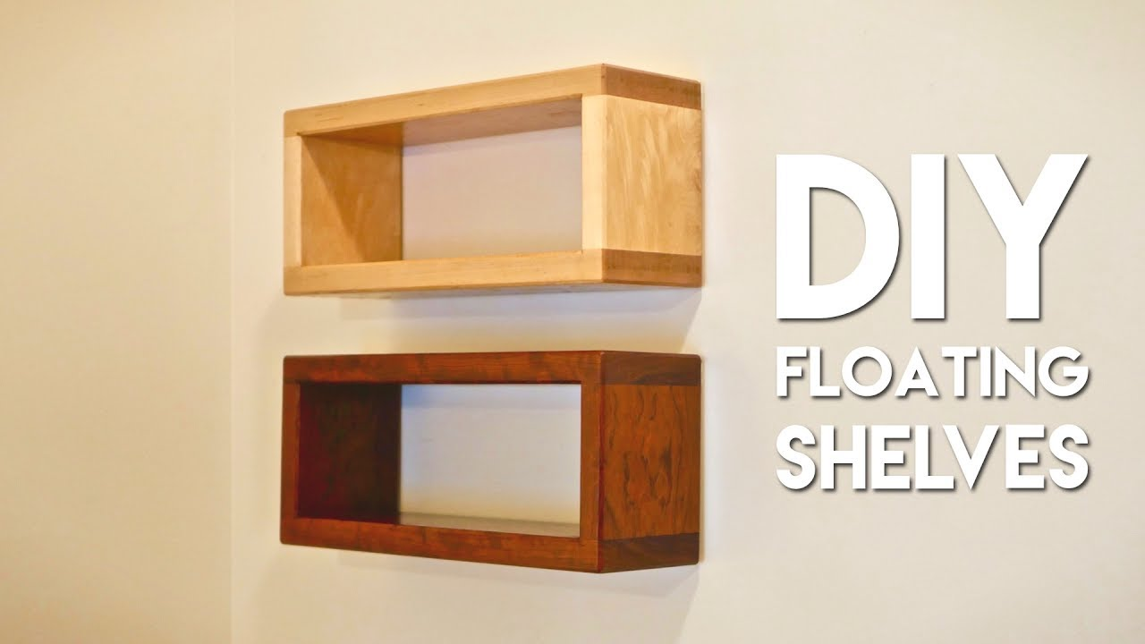 how build diy floating shelf with invisible hardware shelves your own xbox one mount men shoe rack organizer threshold weathered peel and stick flooring concrete space between