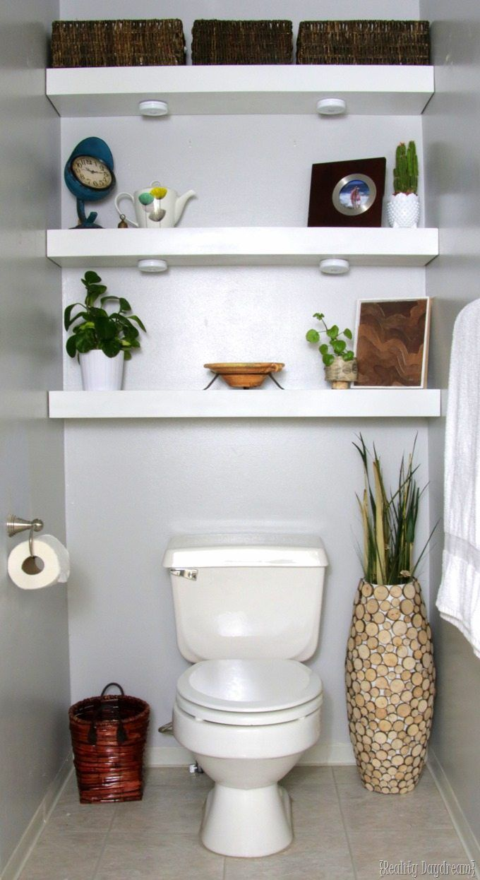 how build diy floating shelves bathroom shelf over toilet shelving the behind reality daydream closet rack iron wall airing cupboard homebase corner desk with bookshelf easy
