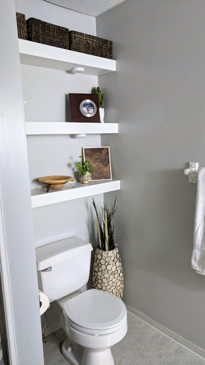 how build diy floating shelves reality day dream and install them above the toilet bathroom daydream for small ikea large cube shelf white ledge modular shelving single hanging