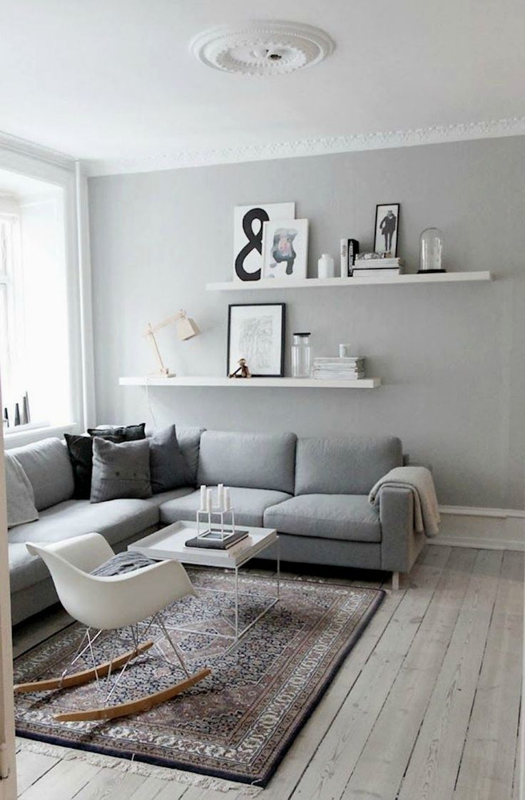 how decorate living room walls home and architectural board floating shelves behind sofa decor ideas grey gray white interior decoration bracketless chrome shelf supports deep