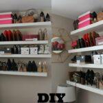 how diy super easy floating shelves for shoes and bags shelf shoe rack girlpower ikea mini large wall mounted coat adjustable closet storage media unit freestanding extra besta 150x150